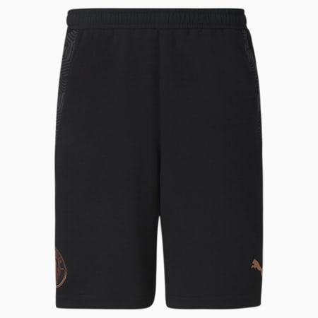 Man City Casuals Men's Football Shorts, Puma Black-Copper, small
