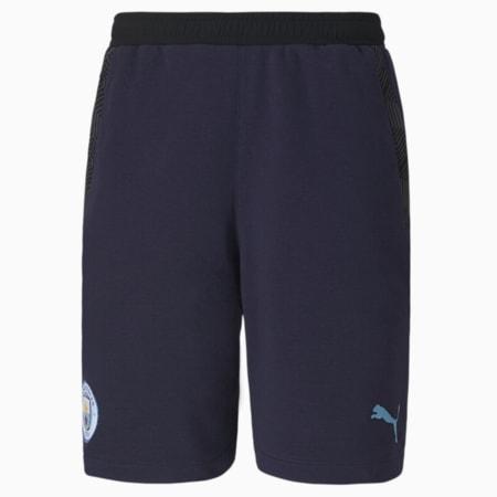 Shorts da calcio Man City Casuals da uomo, Peacoat-Team Light Blue, small