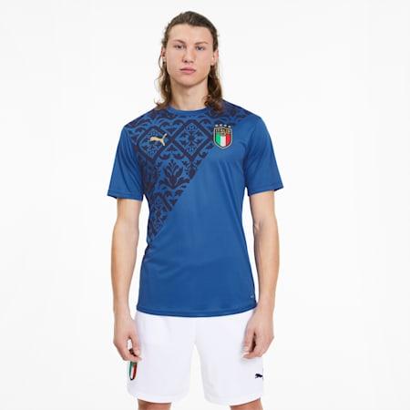 Męska koszulka domowa Stadium reprezentacji Włoch, Team Power Blue-Team Gold, small