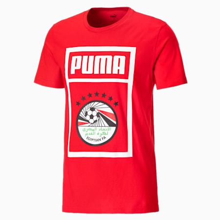 Męski T-shirt piłkarski Egypt PUMA DNA, Puma Red-Puma White, small
