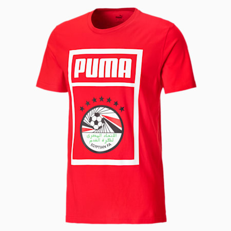 T-shirt da calcio Egitto DNA PUMA uomo, Puma Red-Puma White, small