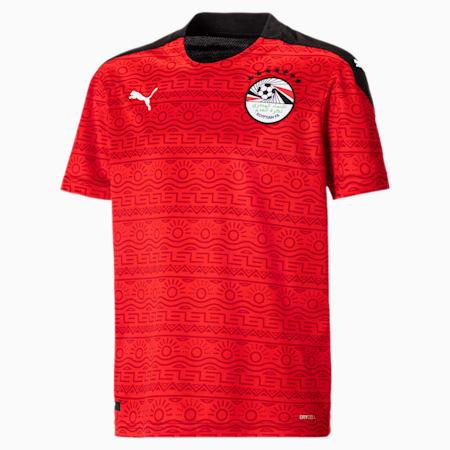 Camiseta réplica de la 1.ª equipación de Egipto juvenil, Puma Red-Puma White, small