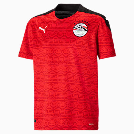 Egypt Home Replica Youth Jersey, Puma Red-Puma White, small