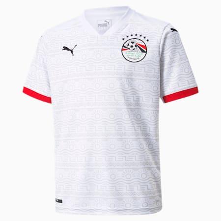 Egypt Away Replica Youth Jersey, Puma White-Puma Black, small-GBR