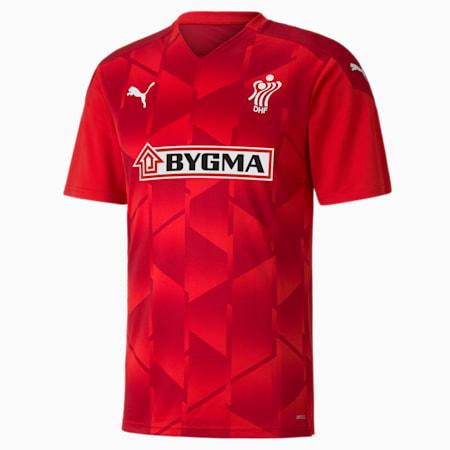 Męska koszulka duńskiej federacji piłki ręcznej, Puma Red-Chili Pepper, small
