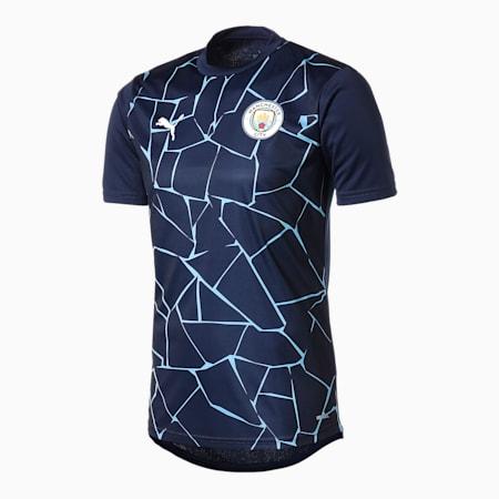 マンチェスター シティー MCFC 半袖 スタジアムシャツ, Peacoat-Team Light Blue, small-JPN