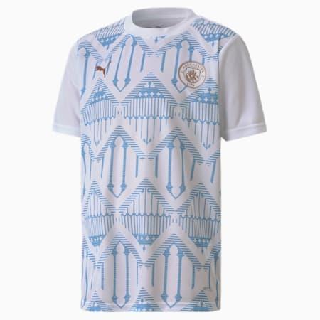Man City Stadium Youth Jersey, Puma White-Team Light Blue, small