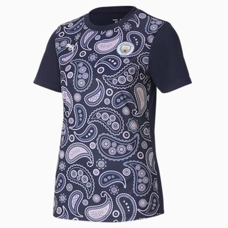 Camiseta de estadio del Manchester City para mujer, Peacoat-Lilac Snow, small
