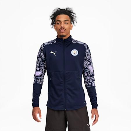 Manchester City FC Men's Stadium Jacket, Peacoat-Lilac Snow, small