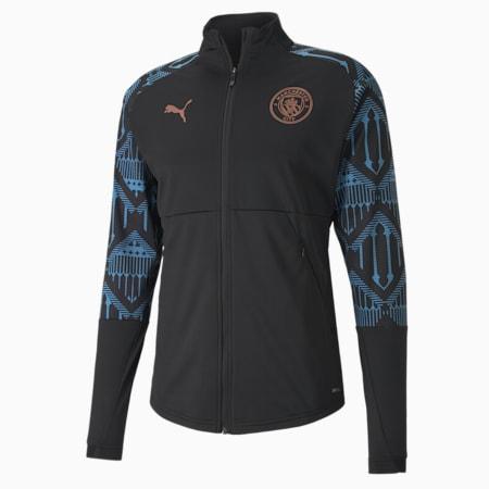 MCFC 맨시티 지퍼 포켓 자켓/MCFC STADIUM Jacket w z&p, Puma Black-Team Light Blue, small-KOR
