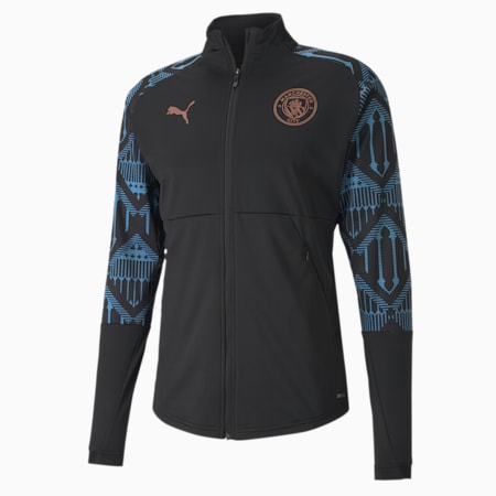 Man City Men's Stadium Jacket, Puma Black-Team Light Blue, small-SEA