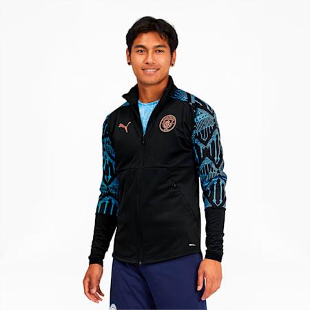 Chaqueta Manchester City FC Stadium para hombre, Puma Black-Team Light Blue, pequeño