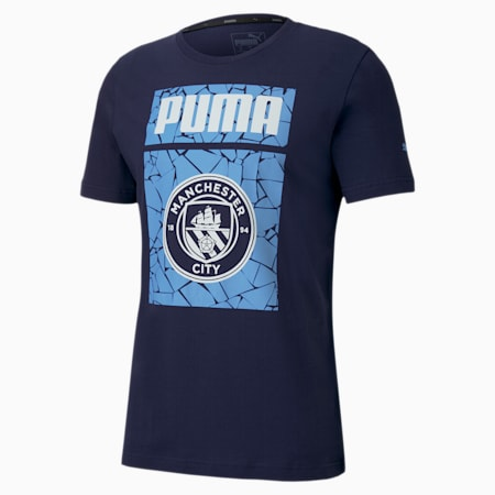Man City ftblCORE Graphic Men's Football Tee, Peacoat-Team Light Blue, small-SEA