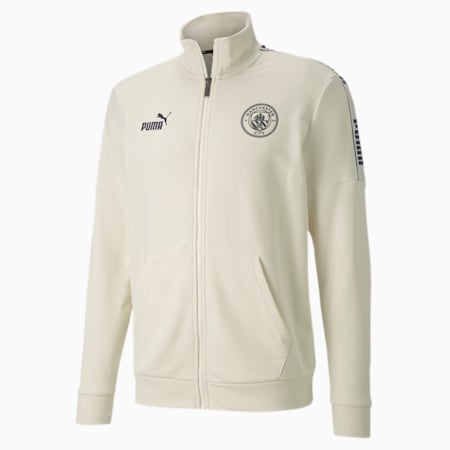 Manchester City ftblCULTURE Men's Football Jacket, Whisper White-Peacoat, small-IND