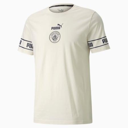 Man City ftblCULTURE Herren Fußball T-Shirt, Whisper White-Peacoat, small