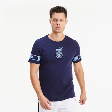 Man City ftblCULTURE Herren Fußball T-Shirt, Peacoat-Team Light Blue, small