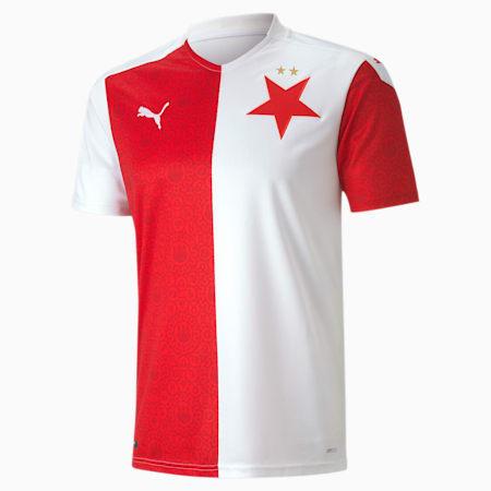 Slavia Prague Men's Replica Home Jersey, Puma White-Puma Red, small