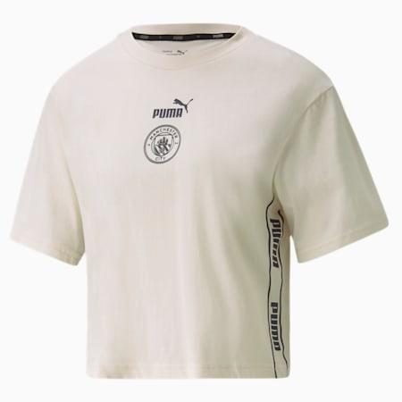 Man City ftblCULTURE Damen Fußball T-Shirt, Whisper White-Peacoat, small