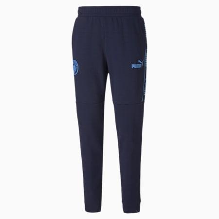 Man City ftblCULTURE Men's Football Track Pants, Peacoat-Team Light Blue, small-GBR