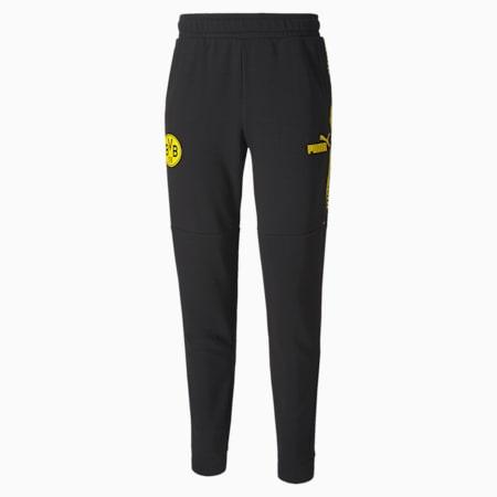 Pantalon de survêtement BVB ftblCULTURE homme, Puma Black-Cyber Yellow, small