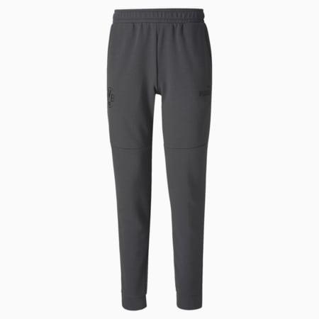 BVB ftblCulture Men's Track Pants, Asphalt-Cyber Yellow, small-IND