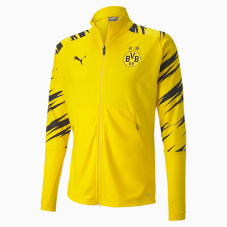 BVB Stadium Men's Football Jacket, Cyber Yellow-Puma Black-Home, small