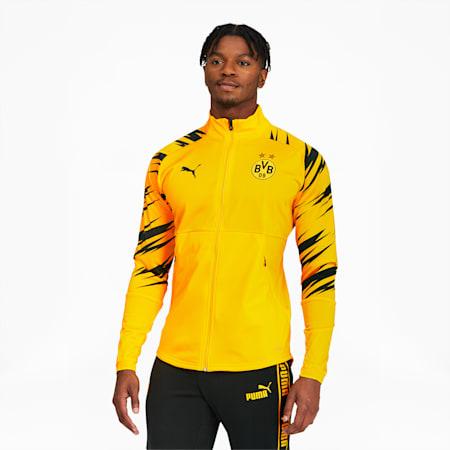 BVB Men's Stadium Jacket, Cyber Yellow-Puma Black-Home, small