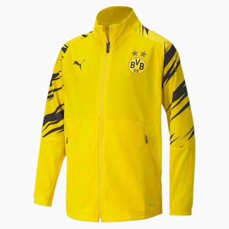 Młodzieżowa stadionowa kurtka piłkarska BVB, Cyber Yellow-Puma Black-Home, small