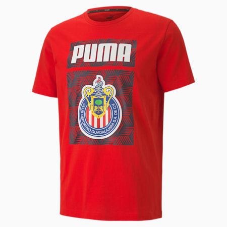 Chivas ftblCORE Graphic Herren Fußball T-Shirt, Puma Red, small