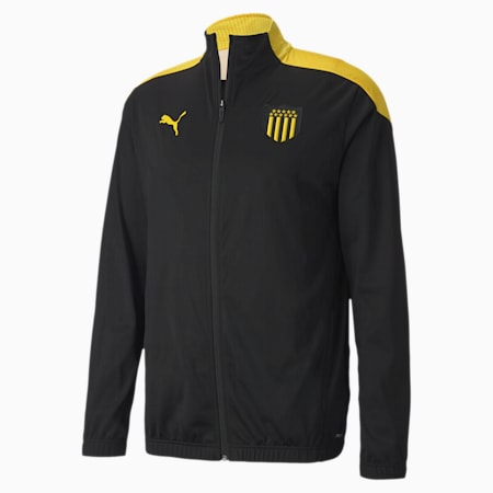 Peñarol Stadium Men's Football Jacket, Puma Black-Dandelion, small
