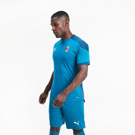 Męska koszulka sportowa AC Milan, Deep Lagoon-Gibraltar Sea, small