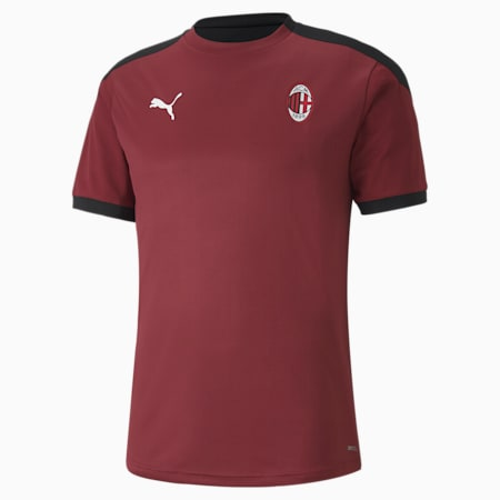 Męska koszulka sportowa AC Milan, Cordovan-Puma Black, small