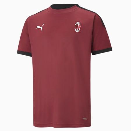 Maillot de sport Milan AC enfants et adolescents, Cordovan-Puma Black, small