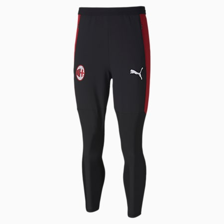 Męskie spodnie treningowe AC Milan Pro, Puma Black-Tango Red, small