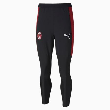 Pantaloni da allenamento Pro da uomo AC Milan, Puma Black-Tango Red, small