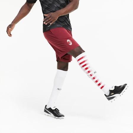 Shorts da allenamento con zip AC Milan uomo   Cordovan   PUMA Squadre di Calcio   PUMA Italia