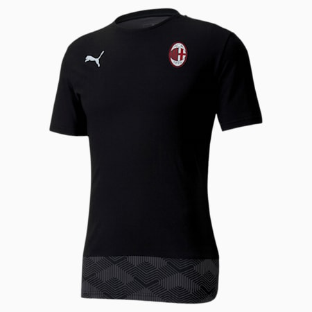 AC Milan Casuals Men's Football Tee, Puma Black-Puma White, small