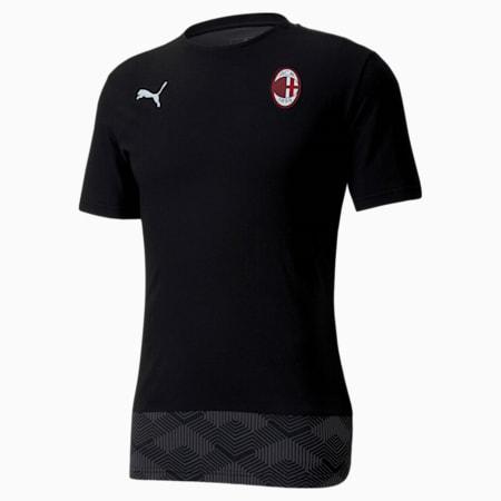 Męska koszulka piłkarska AC Milan Casuals, Puma Black-Puma White, small