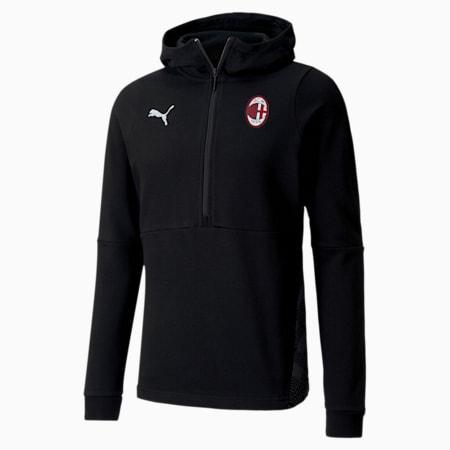 AC Milan Casuals Men's Football Hoodie, Puma Black-Puma White, small