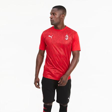 Camiseta estadio para hombre de la 1.ª equipación del AC Milan, Tango Red -Puma Black, small