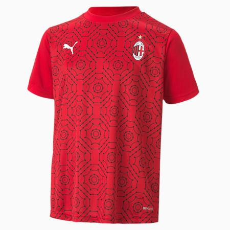 AC Milan Home Stadium Jugend Heim-Aufwärmtrikot, Tango Red -Puma Black, small