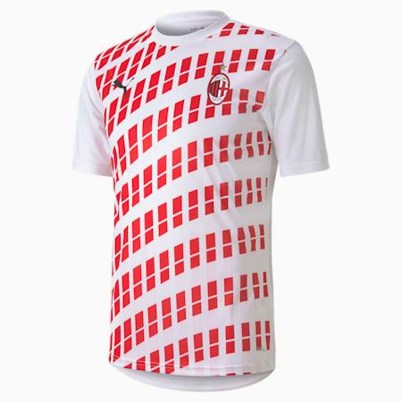 Męska wyjazdowa koszulka stadionowa AC Milan, Puma White-Tango Red, small
