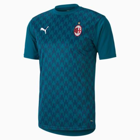 Camiseta de estadio de la 3.ª equipación del AC Milan para hombre, Deep Lagoon-Gibraltar Sea, small