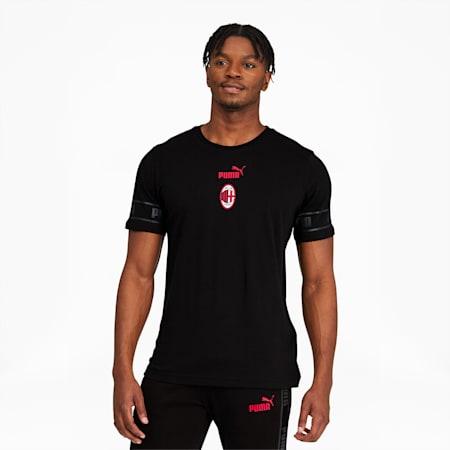 AC Milan ftblCulture Men's Tee II, Puma Black-Tango Red, small