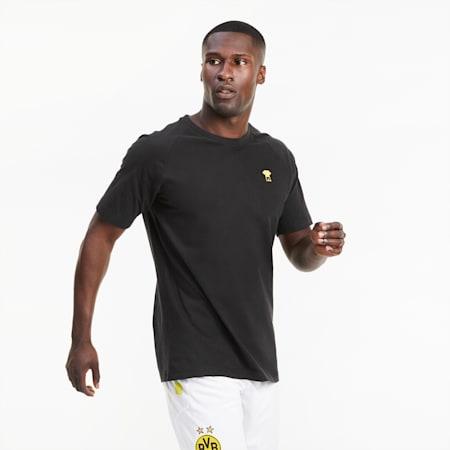 BVB FtblFEAT voetbal-T-shirt voor heren, Puma Black, small