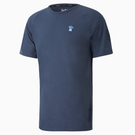 Man City ftblFEAT Game Men's Football Tee, Dark Denim, small