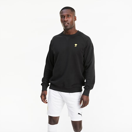 BVB ftblFEAT Game Men's Football Sweater, Puma Black, small