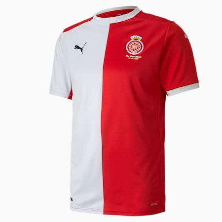 Męska replika koszulki domowej Girona, Puma Red-Puma White, small