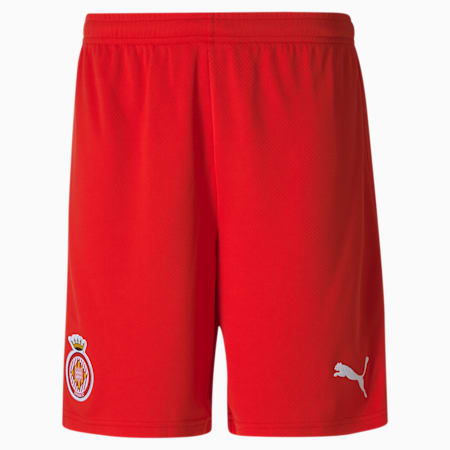 Girona Replica Men's Football Shorts, Puma Red-Puma White, small-GBR