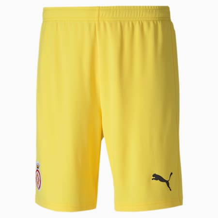 Girona Replica Men's Football Shorts, Dandelion-Puma Black, small-GBR